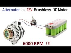 100 Amps Car Alternator converted to Brushless DC Motor - High Speed with BLDC Controller Tri Fuel Generator, Motor Generator, Diy Generator, Tesla Free Energy, Boat Wiring, Diy Go Kart, Power Bike, Magnetic Motor, Electrical Projects