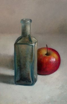 Still life with apple by Jos van Riswick