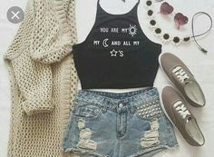 Cute outfits for teens summer fashion outfits 2019 Teen Fashion Outfits, Teenage Outfits, Cute Fashion, Outfits For Teens, Girl Outfits, Fashion Ideas, Trendy Fashion, Fashion 2016, Latest Fashion