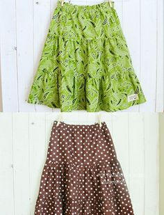 Free skirt pattern -- It's set for kids, but really could be altered for a nice lightweight spring/summer skit for women.
