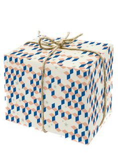 Geometric wrapping paper.