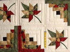 images of fall throw quilts   Gold Red and Sage Autumn Splendor Log Cabin Throw / Wall Hanging Photo ...