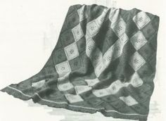 THE IDLEWOOD AFGHAN KNITTING PATTERN #0910