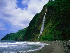 Kaluahine Waterfall, Waipio Valley, Hamakua Coast, Hawaii ... How would you like to see this everyday?  bigislandreale.com