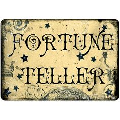 Fortune Teller  5 Postcard Set by AFancifulTwist on Etsy