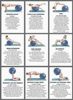 // STABILITY BALL - (stretches) // . . . Prone Stretch, Supine Stretch, Wall Torso Twist, Plank Knee Roll Out, Standing Leg Roll Out