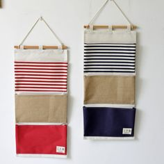 Wall Hanging Storage Bags Organizer Linen Door Wall Closet Bedroom Sundries Storage Pouch For Toys Books Cosmetic Sundries Wall Basket Storage, Wall Hanging Storage, Kid Toy Storage, Diy Hanging, Hanging Baskets, Hanging Closet, Diy Makeup Storage, Diy Storage, Bathroom Storage
