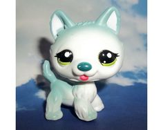 LPs+Husky | Details about Littlest Pet Shop Teal Blue Standing Husky Dog #1563 ...