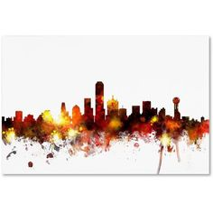 Trademark Fine Art Dallas Texas Skyline II Canvas Art by Michael Tompsett, Size: 22 x 32