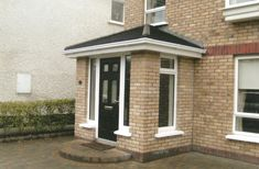 Basement Entrance, Entrance Foyer, Porch Uk, House With Porch, Front Porch Design, Front Porches, Brick Porch, Dublin House, Room Divider Walls