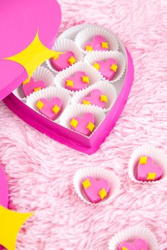 DIY Emoji Heart Chocolate Valentine's Box!
