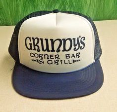 4dde1cb6f86 Hats · VTG Grundy s Corner Bar And Grill Mesh Snapback Trucker Hat Solomon  Grundy  JCJKaps  Trucker