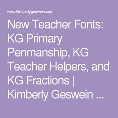 Letter Box Font Base Ten Block Font Touch Numbers Font Kg