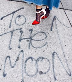 The right shoes will take you to the moon and back // @fpnewyorkcity