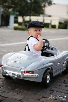 Kids/Children/1 year photos/Adorable/Car/Tampa children's photographer - - DeniseMariePhotography