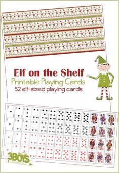 Print out your Elf on the Shelf playing cards today so that your scout elf can play with his (or her) friends! Elf On Shelf Printables, Free Printables, Printable Playing Cards, Printable Cards, Christmas Elf, Christmas Crafts, Christmas Ideas, L Elf, Awesome Elf On The Shelf Ideas