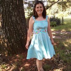 Jamie dress with circle skirt modifcation #scientificseamstress