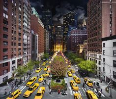 """""""Day and night"""" - the current project of photographer Stephen Wilkes, mixing day and night images of the same scene in cities and other destinations."""