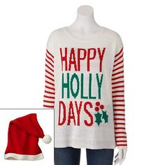 Eyelash ''Happy Holly Days'' Ugly Christmas Sweater - That's my name...I need it