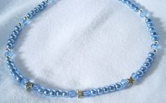BLUE BEADED ANKLET WITH SILVER STARS £6.00http://folksy.com/items/6243751-BLUE-BEADED-ANKLET-WITH-SILVER-STARS