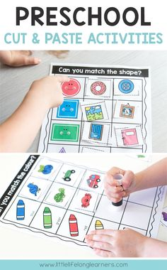 Preschool sorting activities   Cut and paste activities for scissor skills and fine motor development   Review letters, numbers, colors, shapes and much more!   Preschool, toddler, totschool ideas for early learning   Printables for hands-on learning at home  