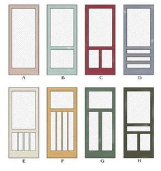 make a wooden screen door