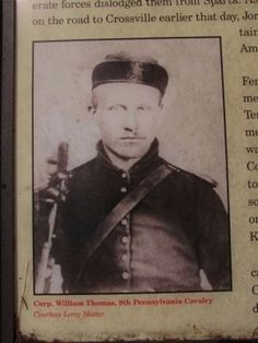 Corp. William Thomas, 9th Pennsylvania Cavalry. Click for full size.