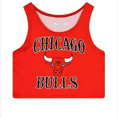 Chicago bulls crop top Women camisole  Chicago  BULLS print crop top  Specifics Item Type-	Tops Clothing Length-	Short Pattern Type-	Print Style	-Casual Material-Spandex,Acetate Fabric Type-	Broadcloth Tops Type-Tank Tops Color Style-Contrast Color Tops Crop Tops