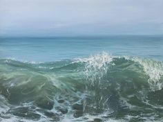 Annie Wildey Landscape Painting - Morning Wave II