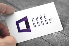 Cube Group #Logo #branding #purple