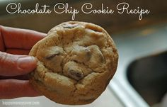 The Master Chocolate Chip Cookie Recipe {I finally found it!} This is the Best Chocolate Chip Cookie Recipe EVER. (Even after making the Nestle Tollhouse, Cooks Illustrated, Martha Stewarts and more. This one uses real ingredients and is perfect in every way.