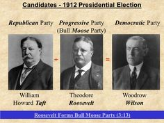 Election of 1912 PowerPoint Presentation Key Terms and People: Theodore Roosevelt William Howard Taft Woodrow Wilson Progressives Bull Moose Party Tariffs New Freedom Trusts Graduated Income Tax Federal Reserve Act Federal Trade Commission Clayton Anti-trust Act  http://mrberlin.com/electionof1912powerpointpresentation.aspx