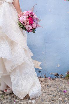 This dress! http://www.stylemepretty.com/2015/02/09/colorful-chic-spanish-villa-wedding/ | Photography: Sandra Aberg - http://wedding.sandraaberg.com/