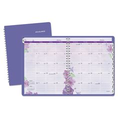 "Beautiful Day Monthly Planner, 8-1/2"" X 11"", Purple, 2017-2018"