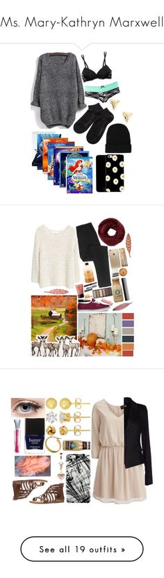 """""""Ms. Mary-Kathryn Marxwell"""" by ohgoditsyou-k ❤ liked on Polyvore featuring Calvin Klein Underwear, Charlotte Russe, Falke, CO, ki-ele, MANGO, philosophy, TOMS, Rifle Paper Co and Forever 21"""
