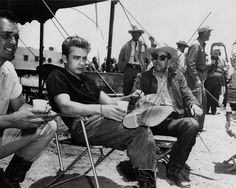 coffee break on set for James Dean