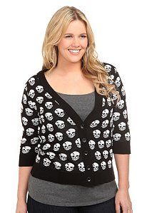 skull cardi, i miss when torrid had more stuff like this, back when they were like hot topic for us fatties