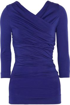 Vivienne Westwood Deity ruched stretch wool-blend top on shopstyle.com