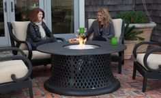 An elegant patio furniture set with the added advantage of a built in fire bowl. Solid and durable cast aluminium construction makes for zero maintenance. The cushions are included with the four comfortable armchairs making this a complete package for your patio. For more information go to http://www.themagicoffire.com.