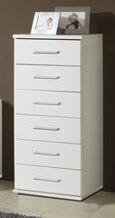 ORCHID 6 Drawer Narrow Chest Of Drawers Alpine White or Oak Effect