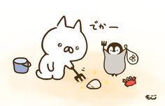 もじじ (@mojimojiji) | Twitter Penguin Drawing, Chibi Characters, Cute Penguins, Universe Art, Cute Illustration, Cute Photos, Cat Art, Cute Drawings, Neko