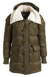 Mini Cream Faux Fur Collar Down Jacket