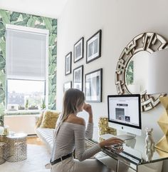 A chic @ZGallerie #SmallSpaces home makeover with NYC style influencer @weworewhat. Click for a full tour on zgallerie.com.