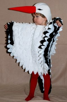how to make a stork costume