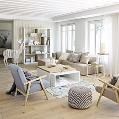 Une pièce à vivre style scandinave   design d'intérieur, décoration, pièce à vivre, luxe. Plus de nouveautés sur http://www.bocadolobo.com/en/inspiration-and-ideas/