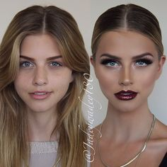 I want to be able to wear a dark bold lip like this! So pretty! Kissable Complexions