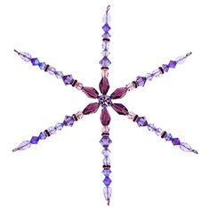Lilac Frost Snowflake | Fusion Beads Inspiration Gallery