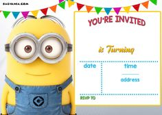 Download Now UPDATED! Bunch Of Minion Birthday Party Invitations Ideas - FREE Downloadable