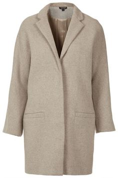 Popper Front Boyfriend Coat