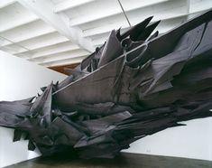 "Sonja Vordermaier, ""Schatten 28"",  Basotect UF, Farbe, Aluminium, Holz  ca 10,6 x 4,5 x 4,2 m, De Soto Gallery, Los Angeles, 2009"